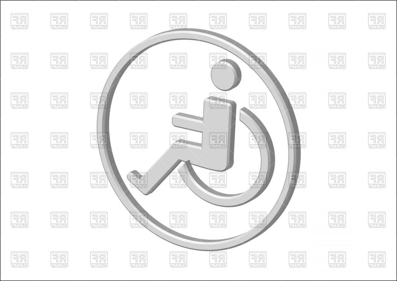 1440x1018 D Wheelchair Handicap Icon Vector Clipart Lazttweet