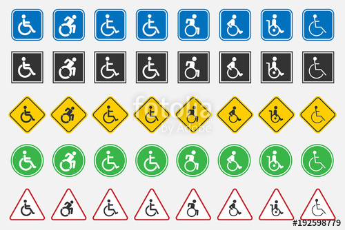 500x334 Disabled Handicap Icons Stock Image And Royalty Free Vector Files