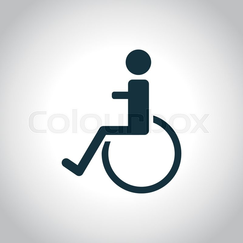 800x800 Disabled Handicap Icon On A White Background Stock Vector
