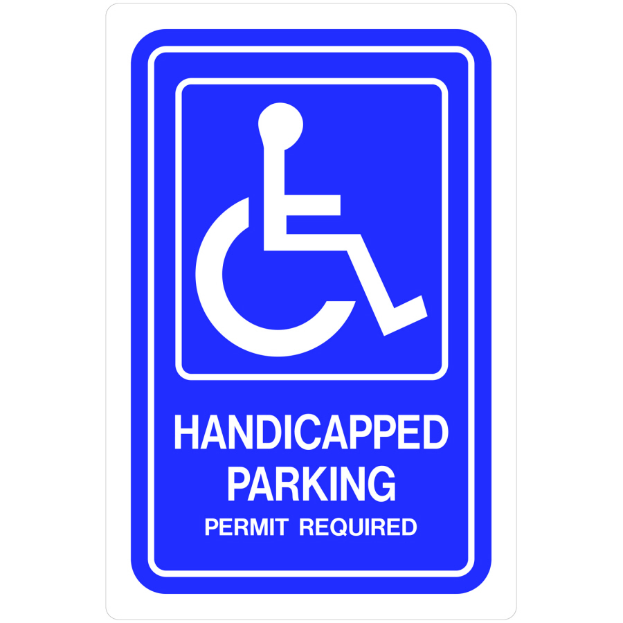 900x900 Debonair Hillman Group X Handicap Parking Sign Shop Hillman Group