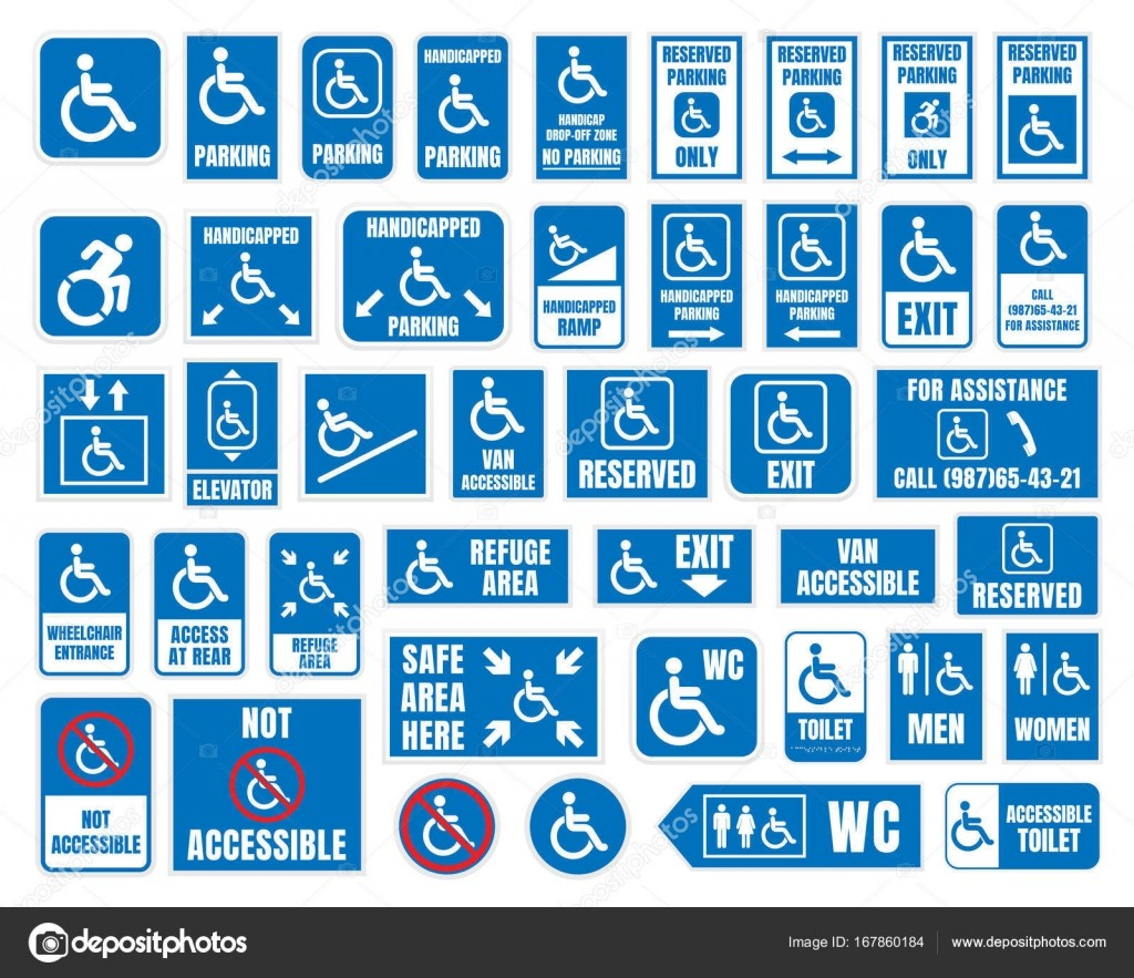 It's just a graphic of Printable Handicap Signs with regard to custom