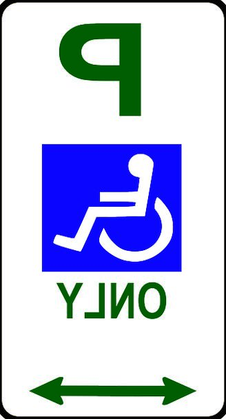 328x608 Handicapped Only, Space, Disability, Incapacity, Parking, Disabled