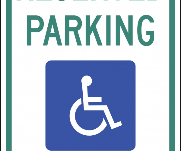photograph relating to Printable Handicap Sign known as Handicap Parking Vector at  No cost for