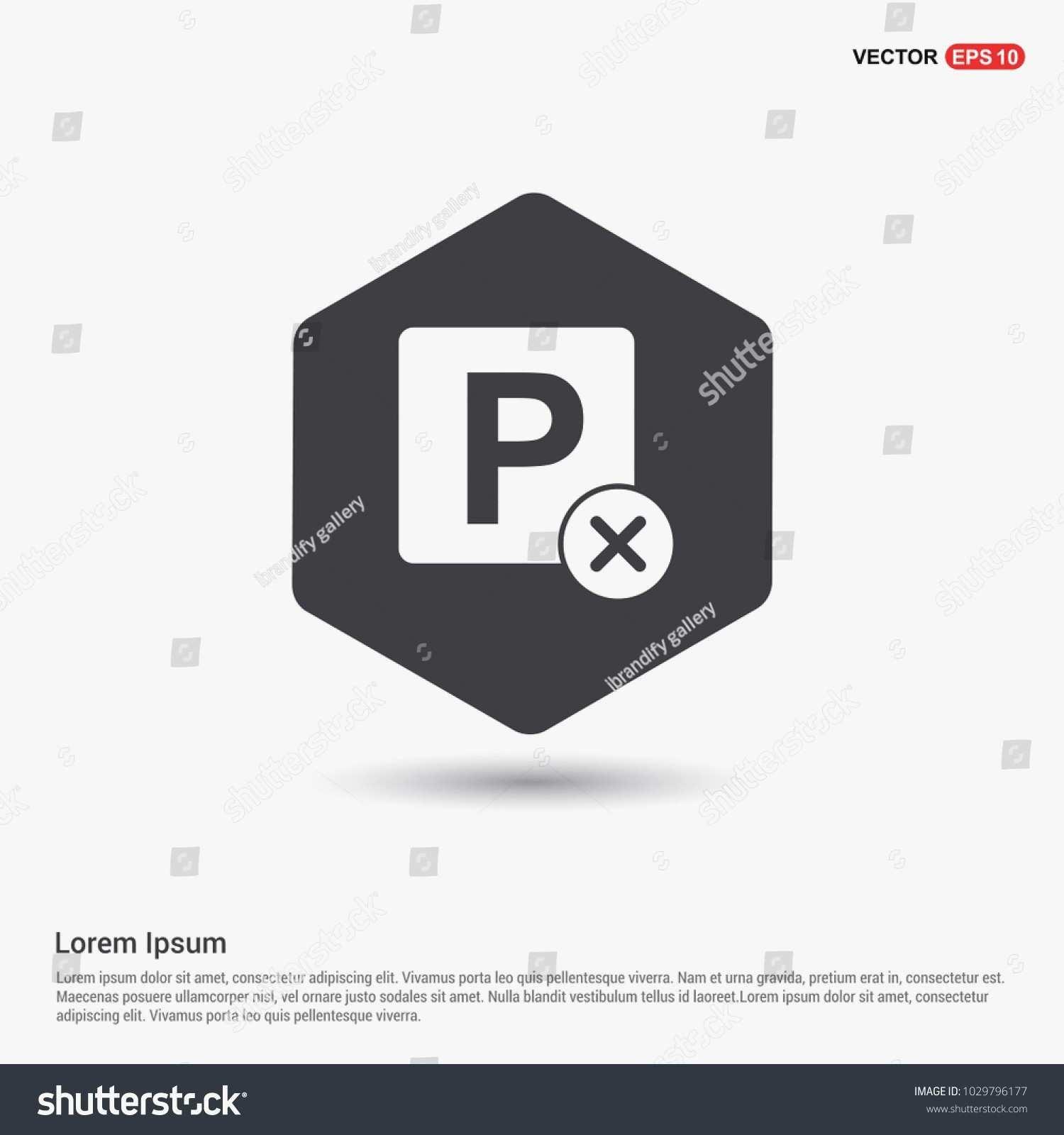 1500x1600 Parking Placard Template