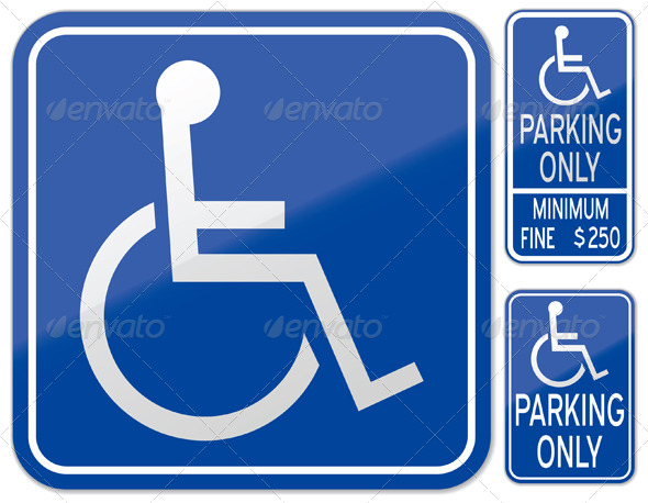 590x458 Stock Vector Graphicriver Disabled Parking Sign 5383171 Dondrupcom