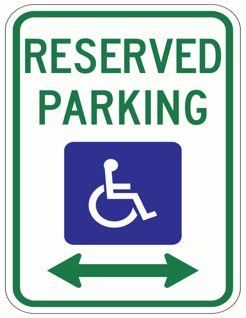 850x1100 Handicapped Parking Page