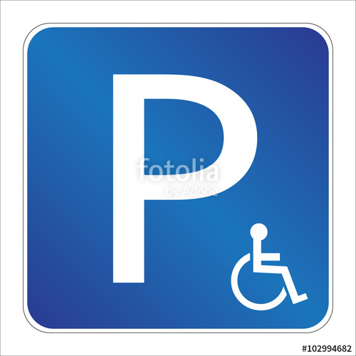 500x500 Parking Lot Handicapped Sign Stock Image And Royalty Free Vector