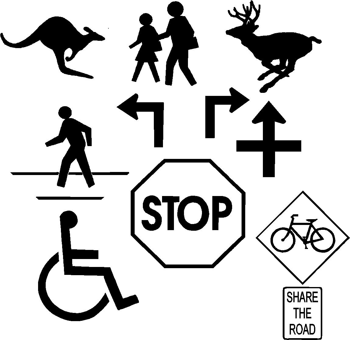 1149x1117 Free Street Stop Sign And Handicap Logo Vector Clip Art For