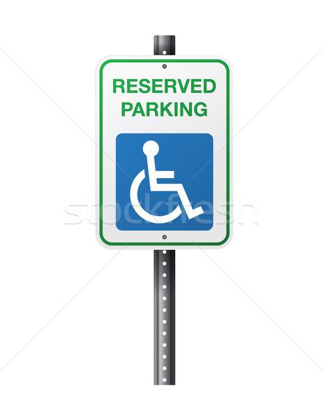 463x600 Handicap Reserved Parking Sign Vector Illustration Jason