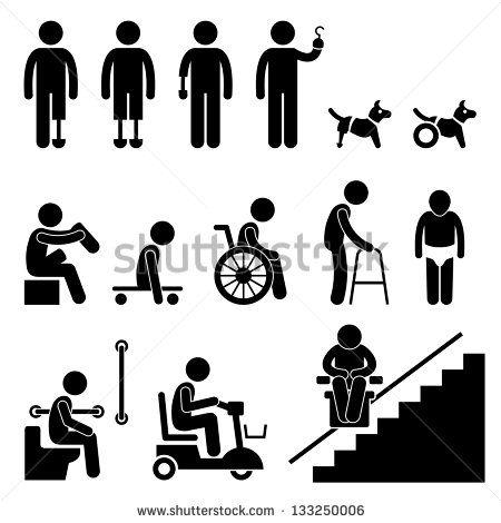 450x470 Handicap Sign Vector Stock Vector Amputee Handicap Disable People