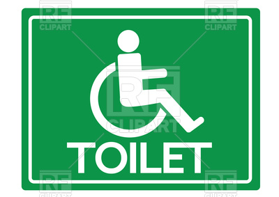 400x283 Icon Of Toilet For Disabled Person, Logo For Restroom With