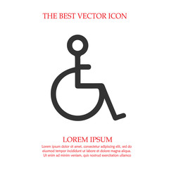 240x240 Wheelchair Vector Icon Eps 10. Disabled Handicapped Isolated