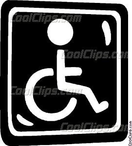 271x300 Handicap Sign Vector Clip Art