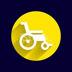 300x300 Disabled Icon Sign Vector Wheelchair Handicap Symbol Premium