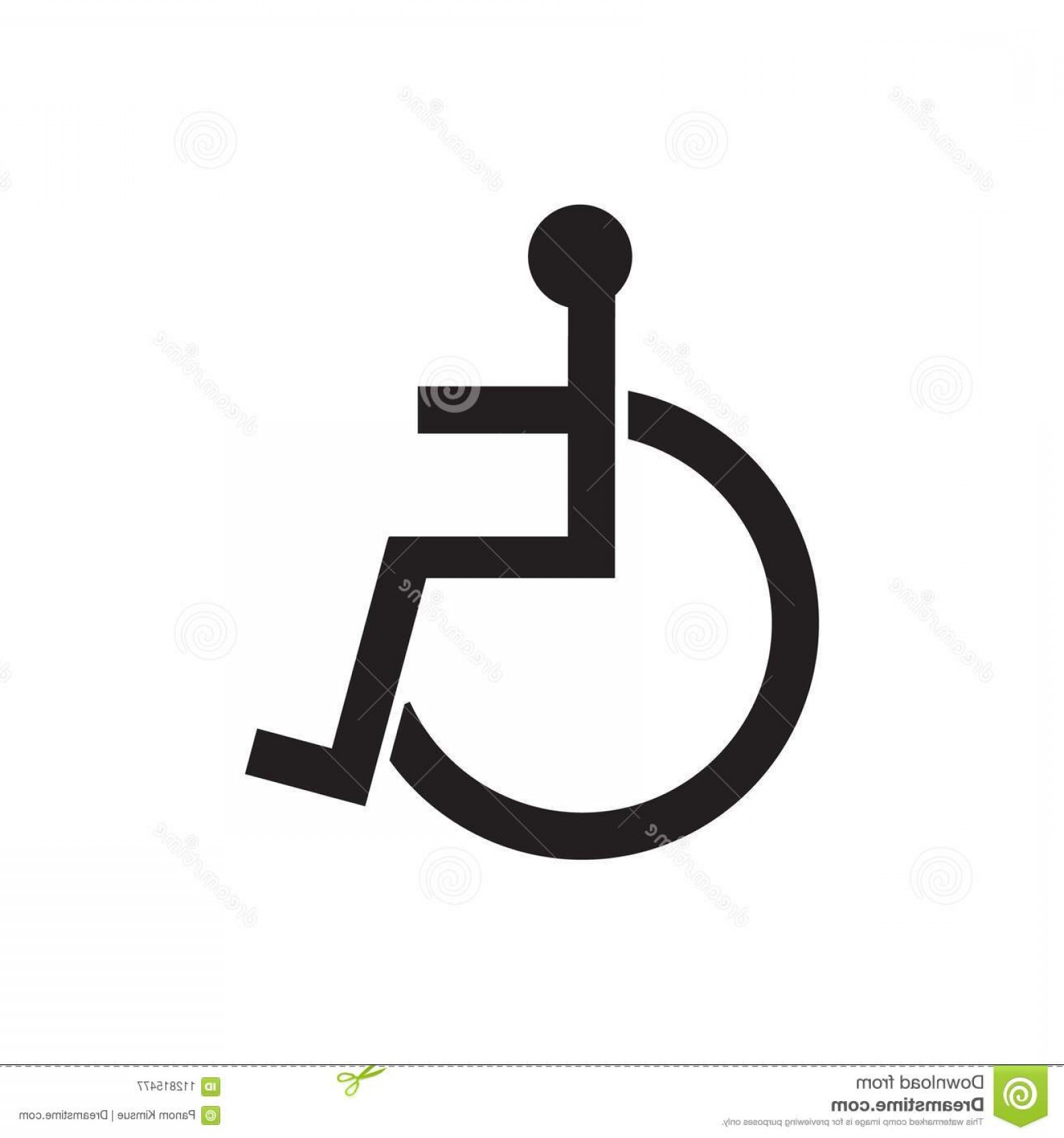 1560x1668 Disabled Sign Icon Vector Illustration Human Wheelchair