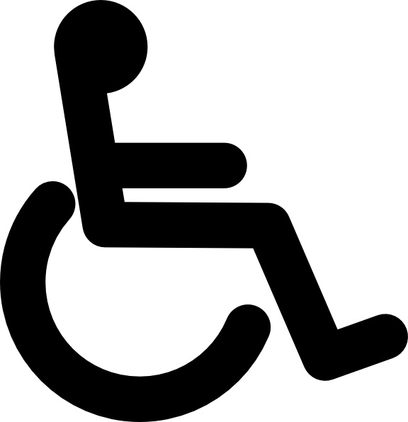 576x596 Disabled Wheel Chair Access Sign Clip Art Free Vector In Open