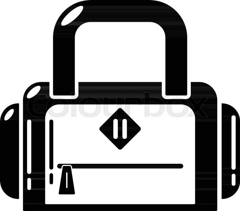 800x702 Travel Bag Handle Icon. Simple Illustration Of Travel Bag Handle