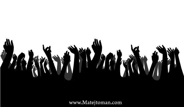 600x350 Free Crowd Hands Up Free Vector Silhouettes Psd Files, Vectors