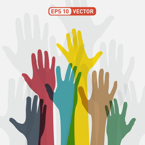 600x600 Hands Up Vector
