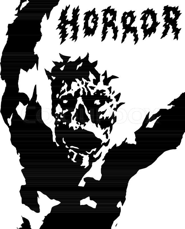 648x800 Voodoo Demon Lifted His Hands Up. Vector Illustration. Genre Of