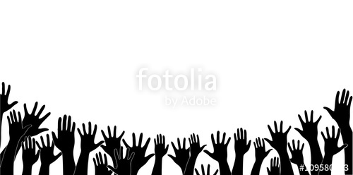 500x248 Free Hands Up Fun Background Art Vector Stock Image And Royalty