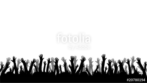 500x282 People With Hands Up Stock Image And Royalty Free Vector Files On
