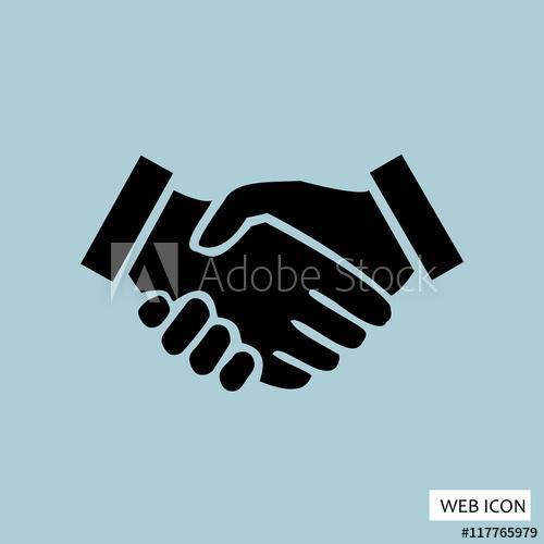 500x500 Handshake Icon, Handshake Icon Eps10, Handshake Icon Vector