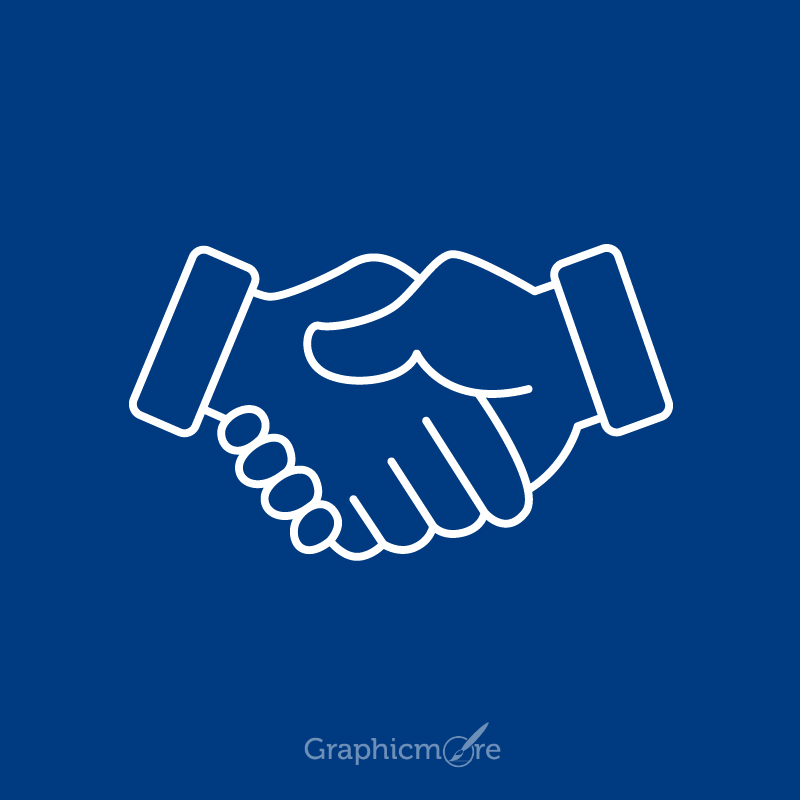 800x800 Handshake Icon Design Free Vector File Download By Graphicmore