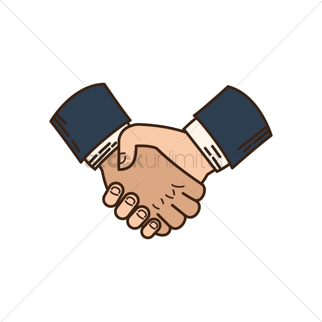 1300x1300 Handshake Icon Vector Image