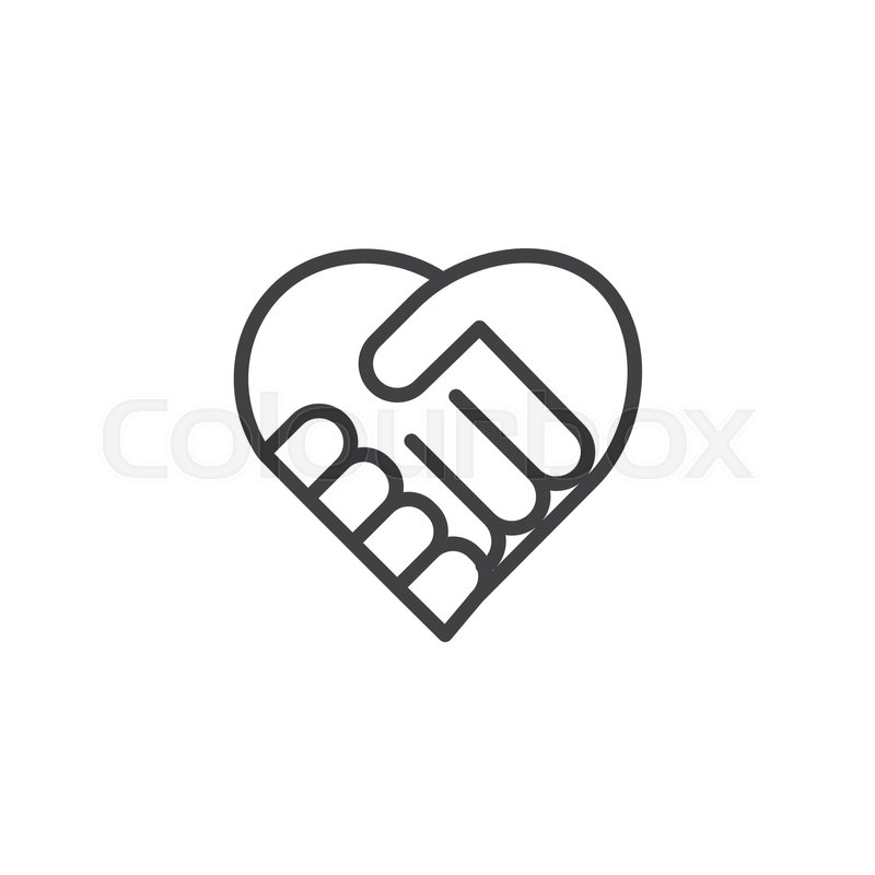 800x800 Handshake Icon Vector, Filled Flat Sign, Solid Pictogram Isolated