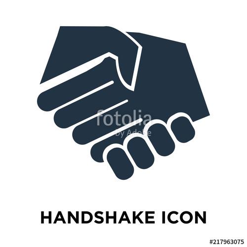 500x500 Handshake Icon Vector Isolated On White Background, Handshake Sign
