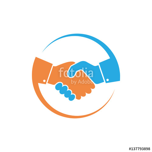 500x500 Handshake Icon. Vector Illustration. Stock Image And Royalty Free