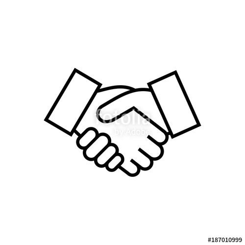500x500 Handshake Sign. Handshake Icon Simple Vector Illustration. Deal Or