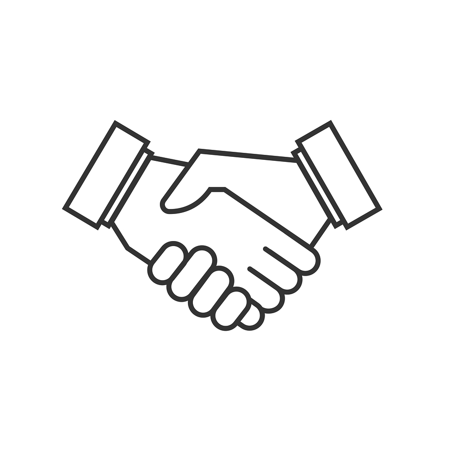 900x900 Business Agreement Handshake Vector Icons. Agreement Symbol