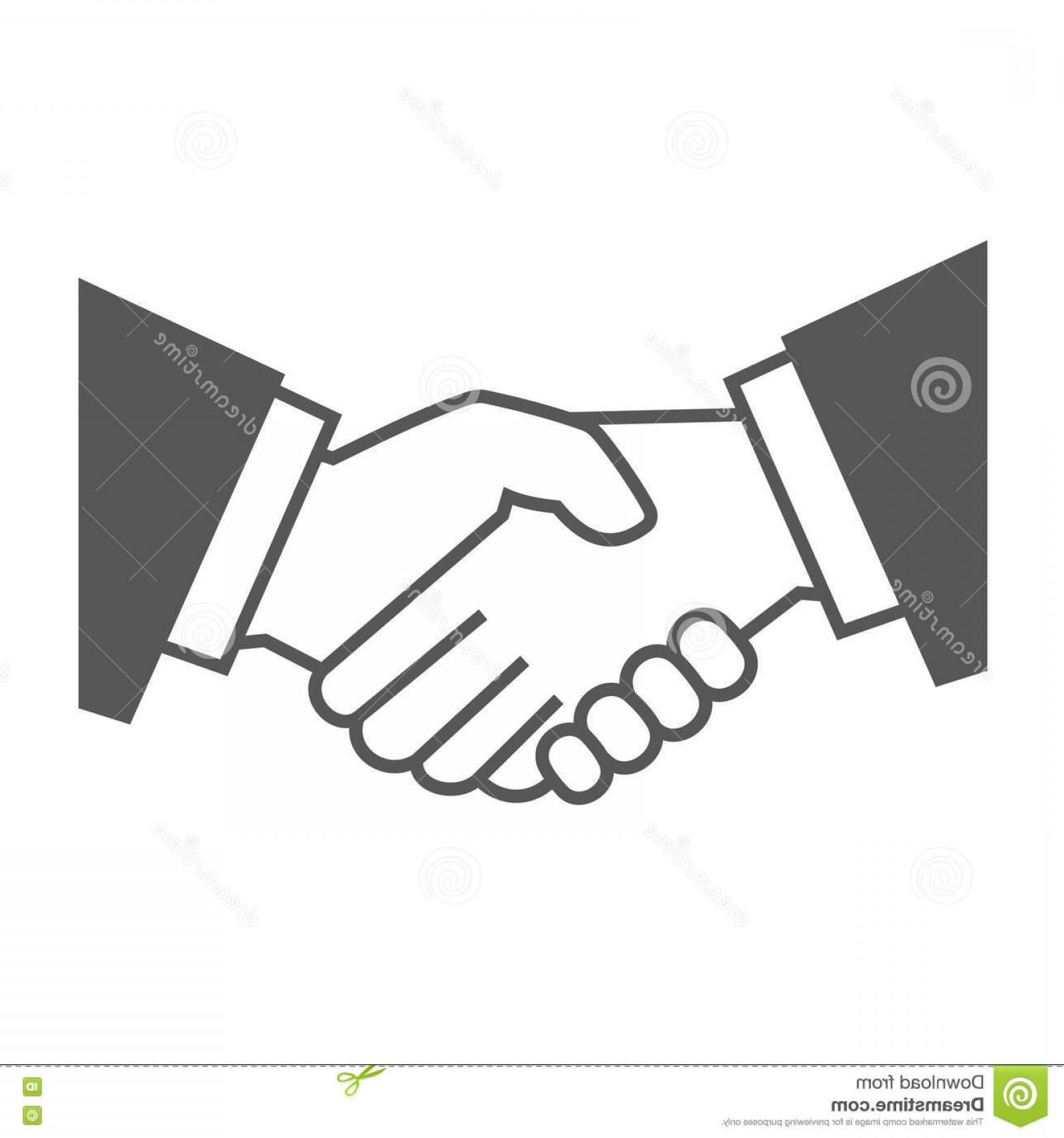 1560x1668 Stock Illustration Gray Handshake Icon White Background Vector