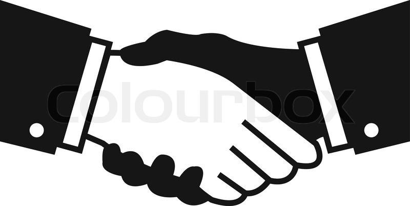 800x402 Vector Handshake Icon Vector Stock Vector Colourbox