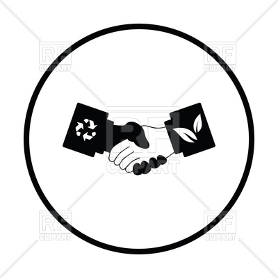 400x400 Ecological Handshakes Icon Vector Image Vector Artwork Of Icons
