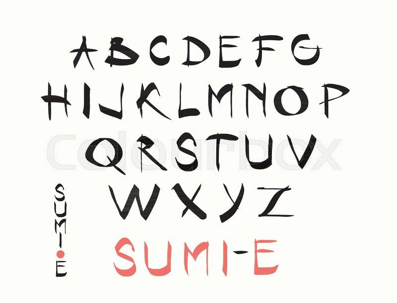 800x611 Hand Lettering Alphabet Design, Handwritten Brush Calligraphy