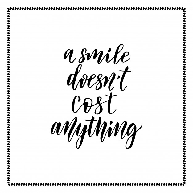 626x626 Vector Hand Lettering. Handwriting Modern Calligraphy. A Smile
