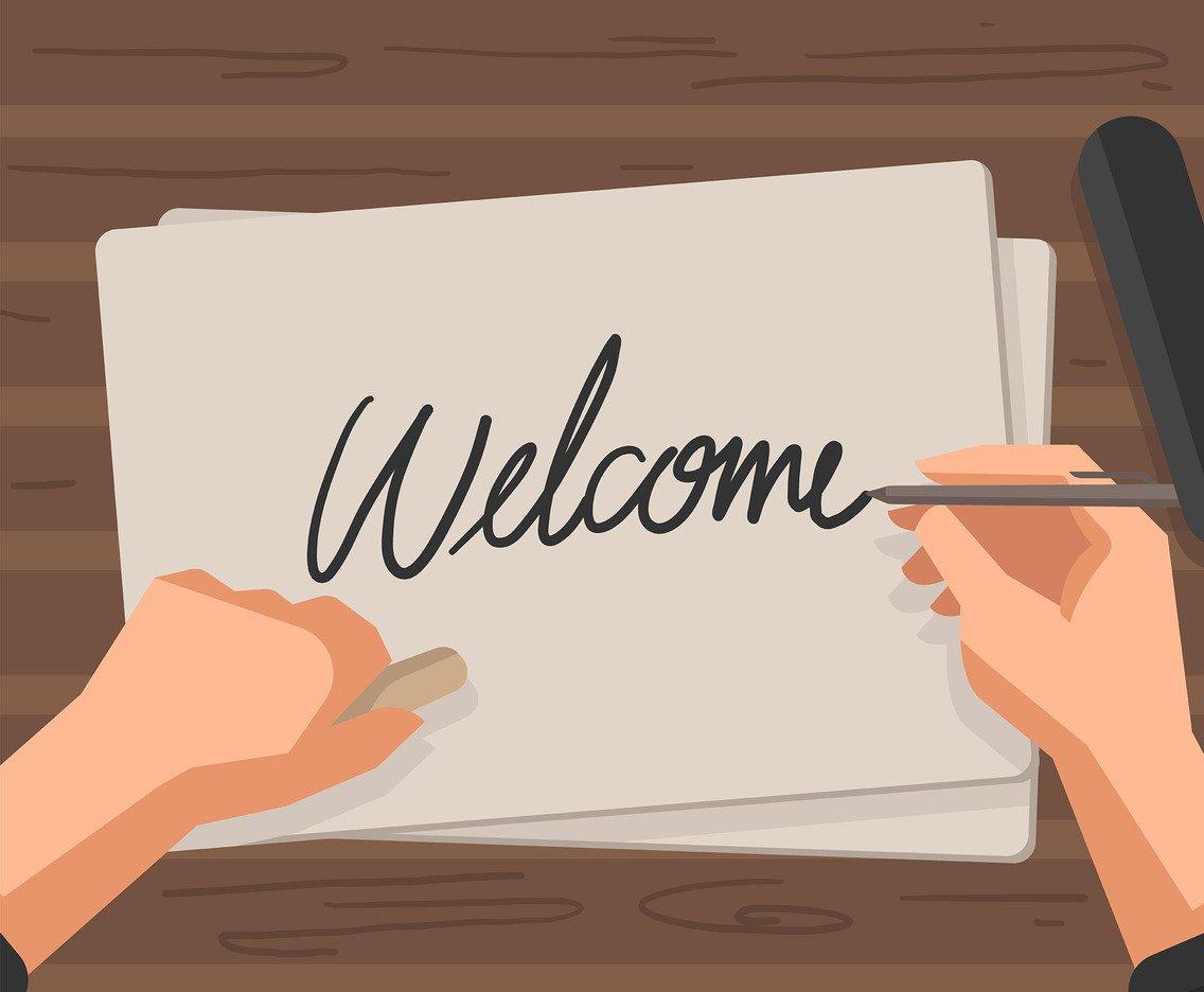 1136x936 Welcome Handwriting Vector Vector Art Amp Graphics