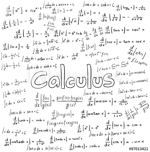 493x500 Calculus Law Theory And Mathematical Formula Equation, Doodle