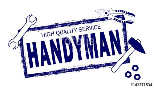 500x286 Handyman. High Quality Service Logo. Stamp Of Handyman Service