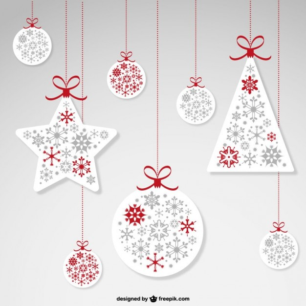 626x626 Christmas Hanging Ornaments Vector Free Vector Download In .ai