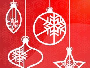 310x233 Christmas Hanging Ornaments Vector Free Vectors Ui Download
