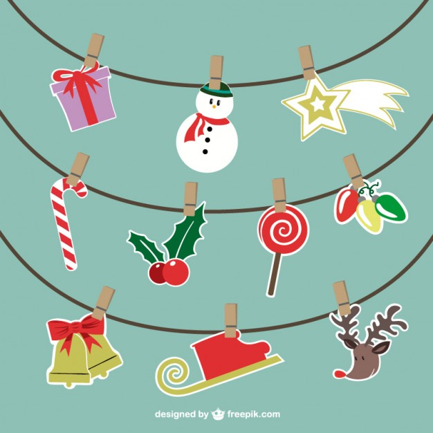 626x626 Christmas Hanging Ornaments Vector Vector Free Download