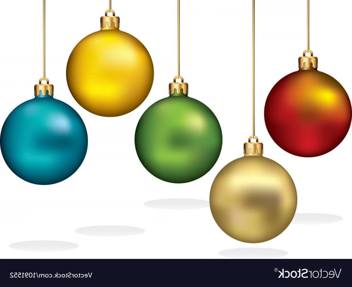1200x980 Color Christmas Ornaments Hanging On Gold Thread Vector Arenawp