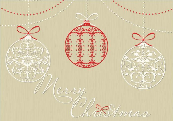 700x490 Free Christmas Ornament Vector Art