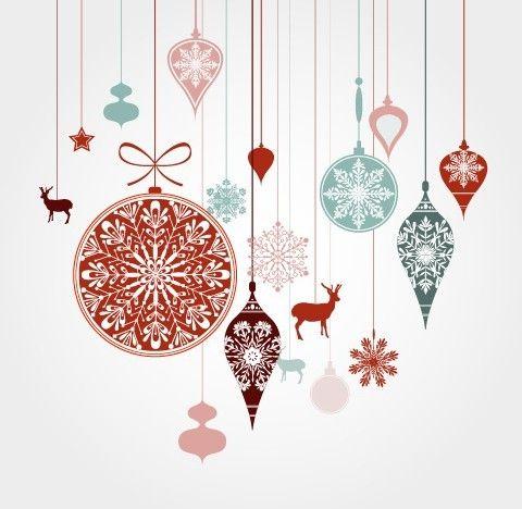 480x468 Free Hanging Christmas Holiday Ornaments Vector Free Webgraphic