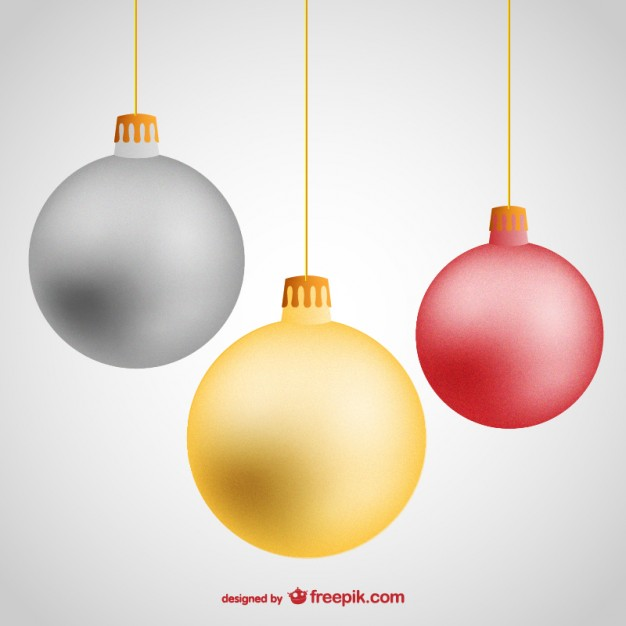 626x626 Hanging Christmas Balls Vector Free Download
