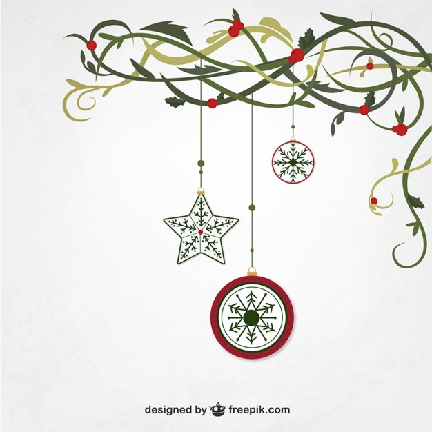 626x626 Hanging Christmas Ornaments Vector Free Download